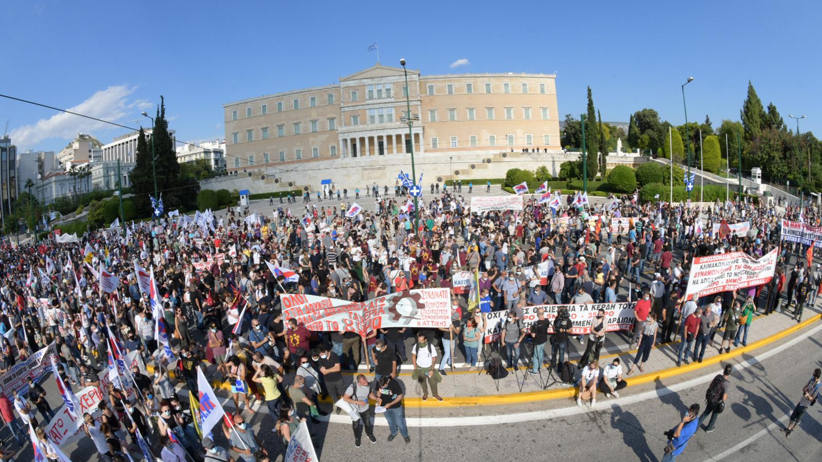 Μεγάλο Συλλαλητήριο στην Αθήνα έξω απο τη Βουλή(ΦΩΤΟ-VIDEO)