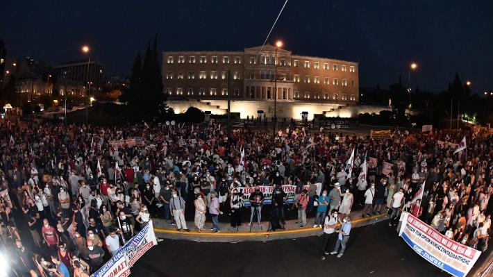 Gran Movilización contra las Reformas Antilaborales en Seguridad Social en Atenas