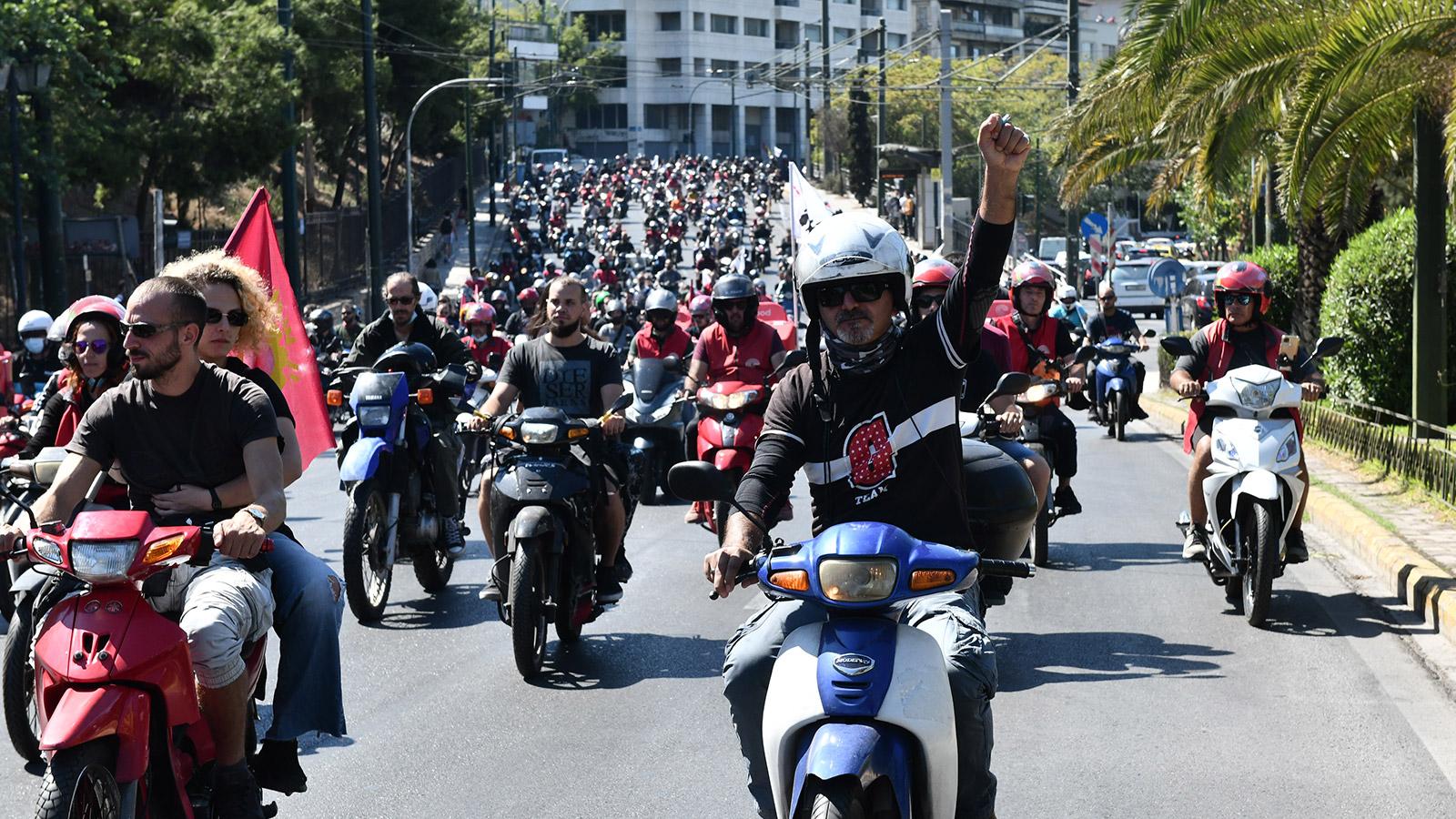 Απεργία διανομέων eFood – Μεγάλη μοτοπορεία στους δρόμους της Αθήνας(ΦΩΤΟ-VIDEO)