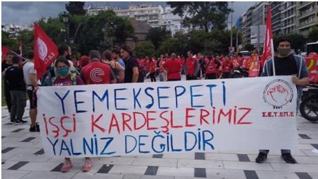 Μήνυμα Αλληλεγγύης προς τους εργαζόμενους της EFOOD από τους συναδέλφους της Πολυεθνικής DELIVERY HERO, YEMEKSEPETI της Τουρκίας